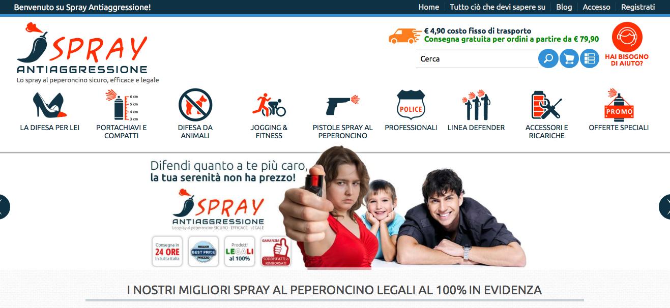 spray al peperoncino legale